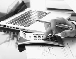 accountant work in office